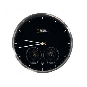 Orologio da Parete cin funzione Termometro ed Igrometro National Geographic