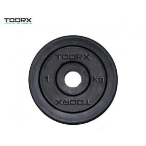 Disco In Ghisa Nero Gommato Toorx 0,5 Kg  Foro 25 mm