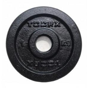 Disco In Ghisa Nero Toorx 1 Kg  Foro 25 mm