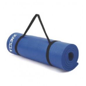 Materassino Fitness Blu con Maniglia di Trasporto Toorx
