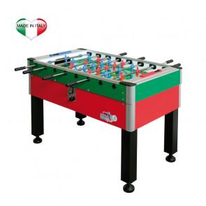 Calciobalilla Roberto Sport New Camp Gambe Ferro Rosso-Blu/Verde-Blu con Gettoniera